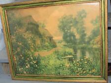 ANTIQUE 1910 LOUIS ASTON KNIGHT PICTURE PRINT PARIS FABULOUS WOOD FRAME LARGE