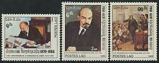LAOS N°640/642** Naissance de Lénine TB, 1985, Birth of Lenin set MNH