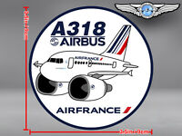 AIR FRANCE PUDGY AIRBUS A318 ROUND DECAL / STICKER