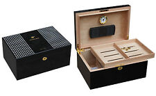 LARGE PIANO FINISHED BEHIKE  COHIBA 100 CIGAR HUMIDOR