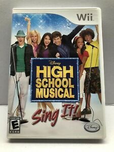 High School Musical: Sing It (Nintendo Wii) Complete w/ Manual - Tested Working