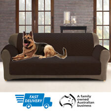 Couch Sofa Cover | Custom Fit | Slipcover Pet Protector | 2 Seater | Coffee
