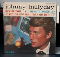 """Johnny Hallyday """" Pas cette Chanson """" 1962  Grande languette 7""""  EP Imp F.Richir"""