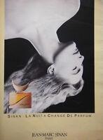 PUBLICITÉ DE PRESSE 1983 SINAN LA NUIT A CHANGÉ DE PARFUM  JEAN-MARC SINAN PARIS