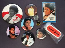 1980s MICHAEL JACKSON Collection Pins Address Book Ring Chip Clip New