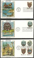 US SC # 1834-1837 1837a Northwest Indian Masks FDC .Colorano Silk Cachet