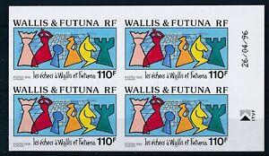 [328589] Wallis Fut 1996 chess good set VF blocks of 4 MNH imperf. Stamps