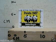 STICKER,DECAL PANDA 1987 BEEKSE BERGEN