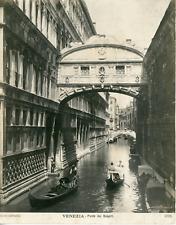 Italie, Venise, Venezia, ponte dei sospiri   Vintage silver print, Tirage ar