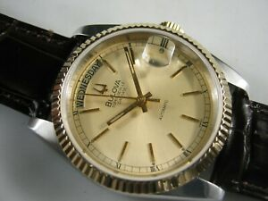 BULOVA SUPER SEVILLE ' President ' Automatic Day Date Nice Collections