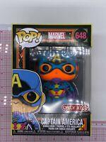 Funko POP! Marvel Captain America #648 Neon Black Light -Target Exclusive I02