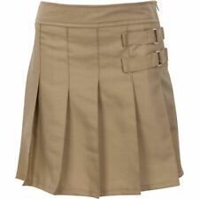 Girls Tab Pleated Skort Uniform Skorts Size 4-20 (Khaki & Navy avail)