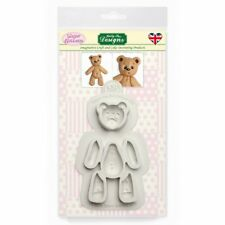 Katy Sue Designs Sucre Boutons Cousu Teddy Bear Silicone Sugarcraft Moule