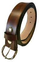 Mens Leather Belt Work Casual Heavy Duty Handmade Belt Brown or Black USA Made