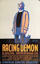 "RACING DEMON BROADWAY WINDOW CARD POSTER PAUL GIAMATTI, BRIAN MURRAY 22"" X 14"""