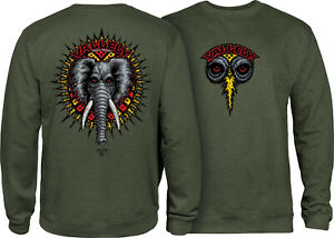 Powell Peralta Skateboard Crew Sweatshirt Mike Vallely Elephant Army