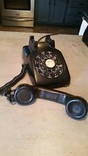 Vintage Black Western Electric Rotary Telephone Phone Model 500 1961 Bell System