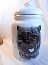 Rare ~ Porcelain by Rosalinde ~ Cairn Terrier ~ Canister ~ Treat or Cookie Jar