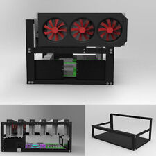 6 GPU Stackable Open Air Mining Rig Frame Case Computer Ethereum ETH Bracket USA