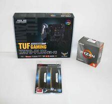 AMD 3600 Ryzen 5 3.6 GHz ASUS X570-PLUS TUF GAMING WiFi AM4 MoBo + 32GB RAM kit