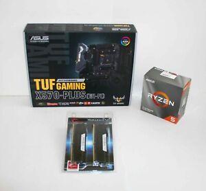 AMD 3600 Ryzen 5 3.6 GHz ASUS X570-PLUS TUF GAMING WiFi AM4 MoBo + 16GB RAM kit