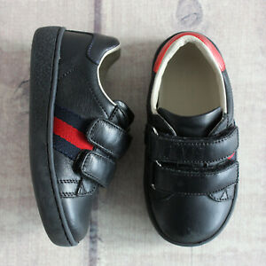 Gucci Leather Black Kids Baby Sneakers Boots 21 US 6 Girls Boys Shoes