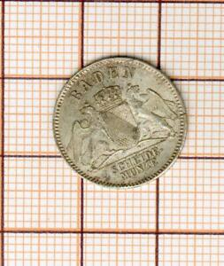 Baden , nice quality  silver 3 kreuzer 1866