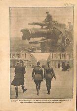 Gun Obusier British Army Officer Scots Guards Place de la WWI 1917 ILLUSTRATION