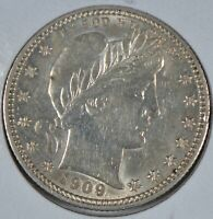 1909 Barber Quarter About Uncirculated