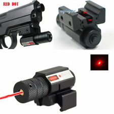Red Dot Laser Lazer Sight Adjustable 11mm/20mm Scope W/ Mount For Hunting