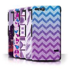 STUFF4 Back Case/Cover/Skin for Sony Xperia Go/ST27i/Purple Fashion
