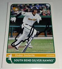 Atlanta Braves Ender Inciarte Signed 2012 South Bend Silver Hawks Auto Card