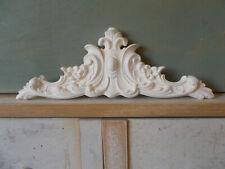 Decorative Pediment Ornate French Style White Pediment