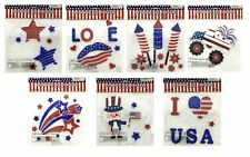 50+ Patriotic Memorial Flag Day Window Gel Sticker Cling USA Election Decoration
