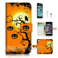 ( For iPhone 7 Plus ) Wallet Case Cover P0766 Halloween