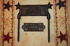 (2) Bullshit Corner Texas Boot Scraper, Macho Home Decor, Cast Iron,W-13/ 65