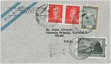 Treno-ARGENTINA-STORIA POSTALE: posta Aerea per Italia - 1955