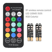 T10 Car Marker Lamp RF Wireless Remote Control RGB Colorful LED Position Lights