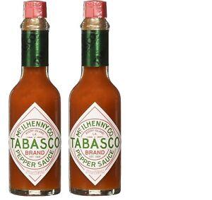 Tabasco Original Flavor Pepper Sauce, 2 oz (2 Pack)