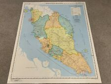 Large Map Of Malaysia 77cm X 95cm Laminated