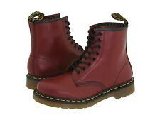 Para Hombres Zapatos Dr. Martens 1460 8 Ojo Cuero Botas 11822600 Suave Rojo Cereza