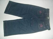 David Paul Capri Jeans with Belt, Embroidered Front Pockets Size 10..Stretchy