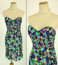 Jovani Size 2 Mult $700 Cruise Prom Formal Night Teal Short Sequin Homecoming