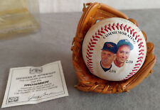 CAL RIPKEN JR. & LOU GEHRIG Ironmen Photo Signature Ball Mini Glove Baseball