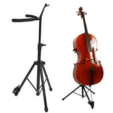 More details for premium cello stand with height adjustment, bow holder and fold design uk stock