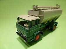 LION CAR 47 DAF 2000 TRUCK - BULK TRUCK - GREEN + GREY 1:50 - VERY GOOD