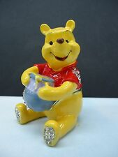 WINNIE THE POOH with honey - Licenced Disney Trinket Box / Ornament Gift NEW