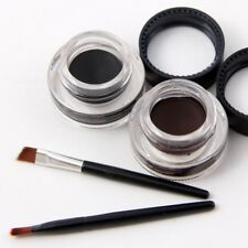 Miss Rose Long Lasting Waterproof Black & Brown Eyeliner GEL Brush Set Beauty