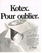 PUBLICITE  1970   KOTEX   mouchoirs papier