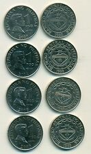 4 DIFFERENT 1 PISO COINS from the PHILIPPINES (2000, 2004, 2009 & 2010)